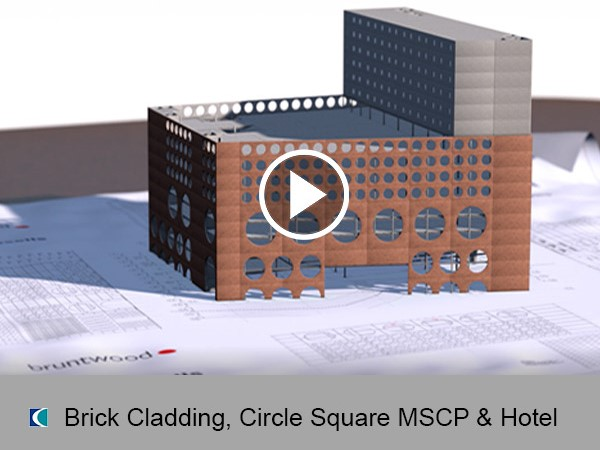 Brick Cladding Panels, Circle Square MSCP & Hotel